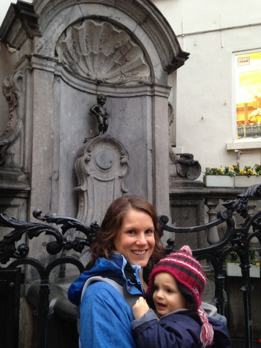 Manneken-Pis...Connor was not amused!