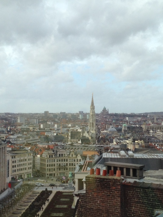 A view of Brussels from the 10th floor of the Musical Instrument Museum